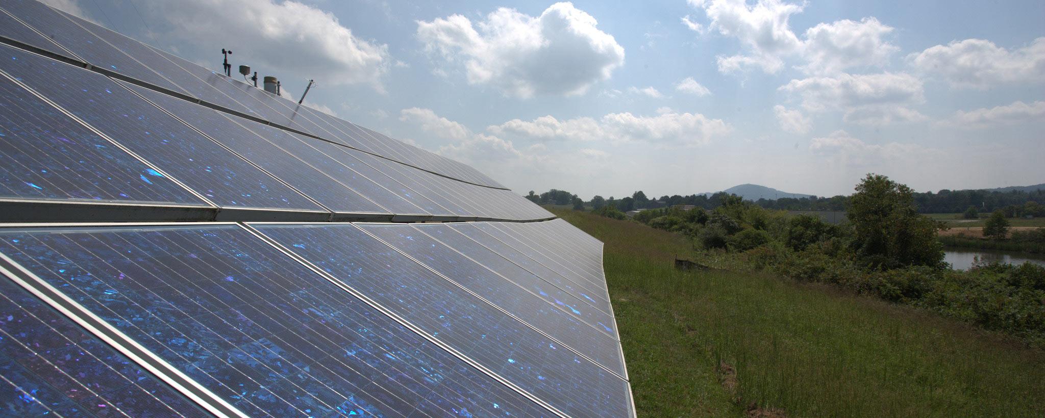 Solar on a Hillside