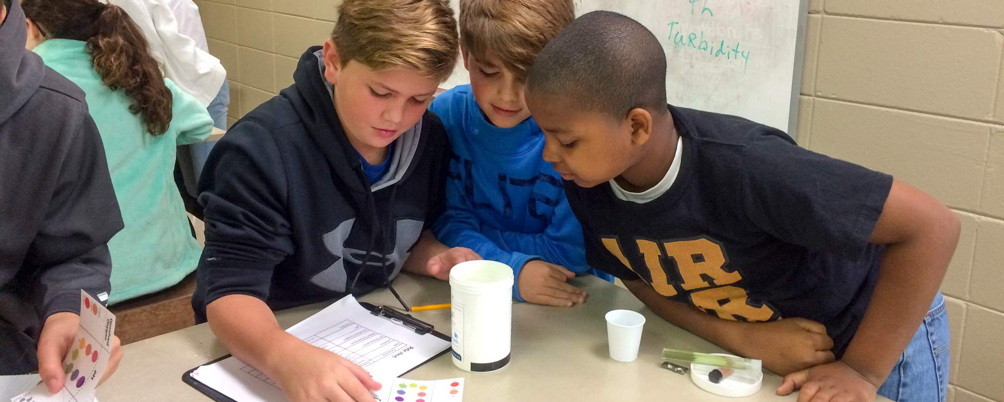 Kids doing experiments