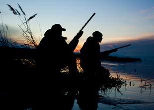 hunters at sunrise