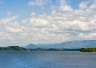 river clouds landscape