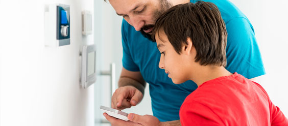 Father and Son Smart Thermostat